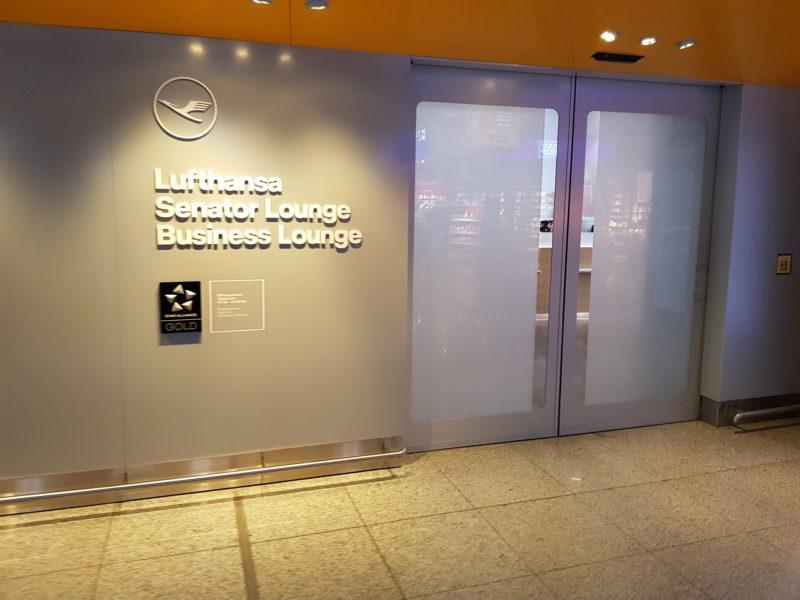 Lufthansa business class Entrance