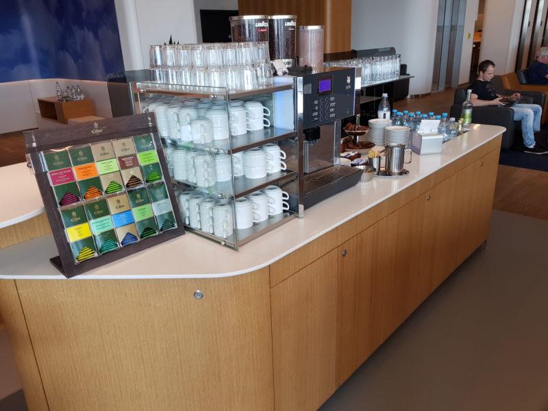 Tea selection Lufthansa business class lounge