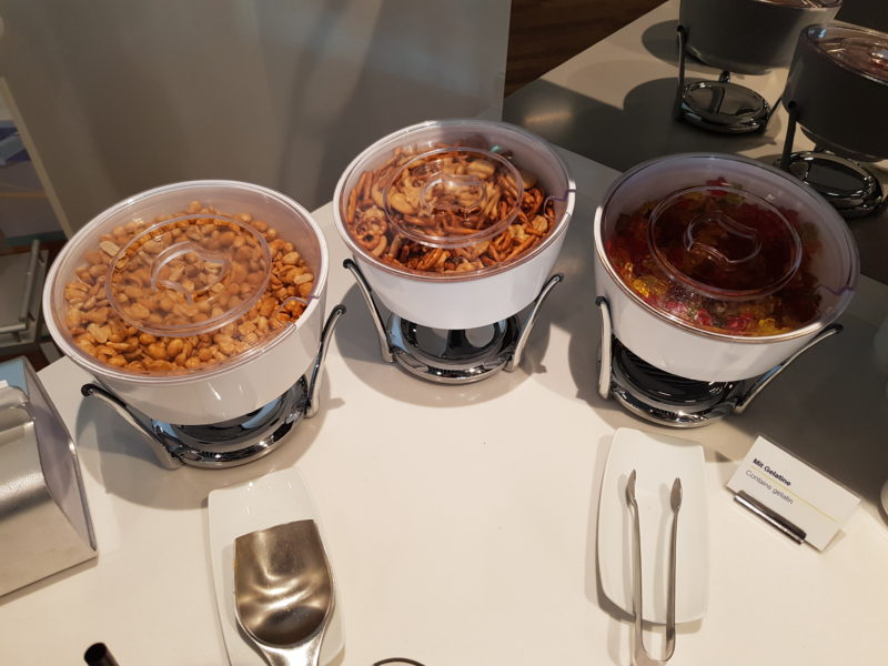 nuts and sweets Lufthansa business class lounge