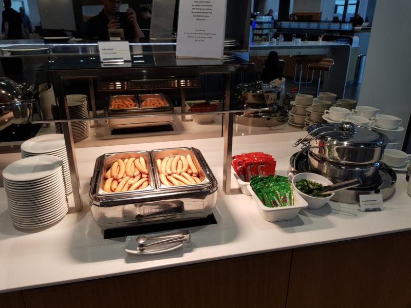 Lufthansa business class lounge warm buffet