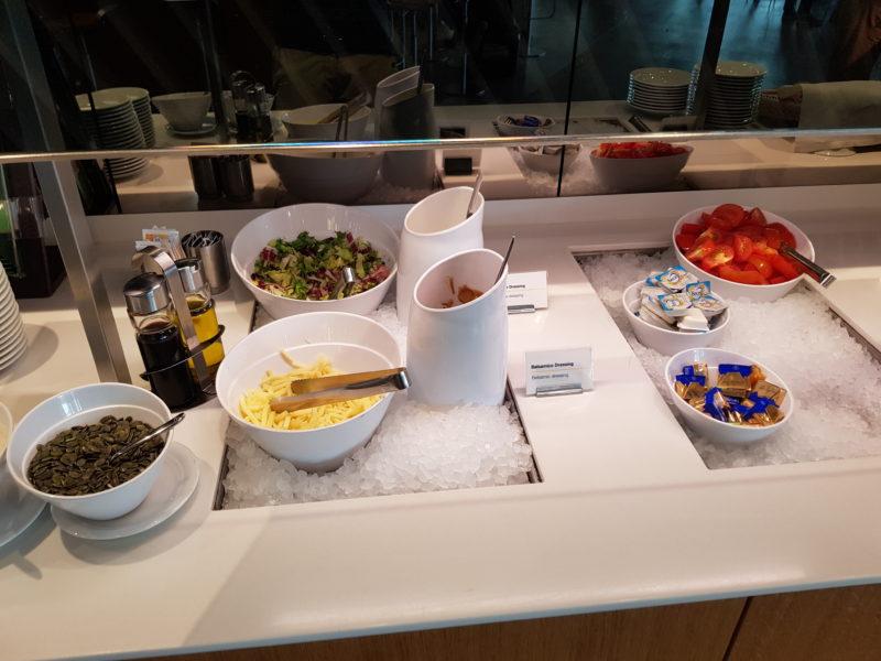 Lufthansa business class lounge salad bar