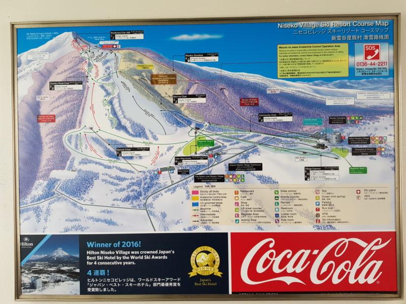 Review Hilton Niseko Village, Ski Map