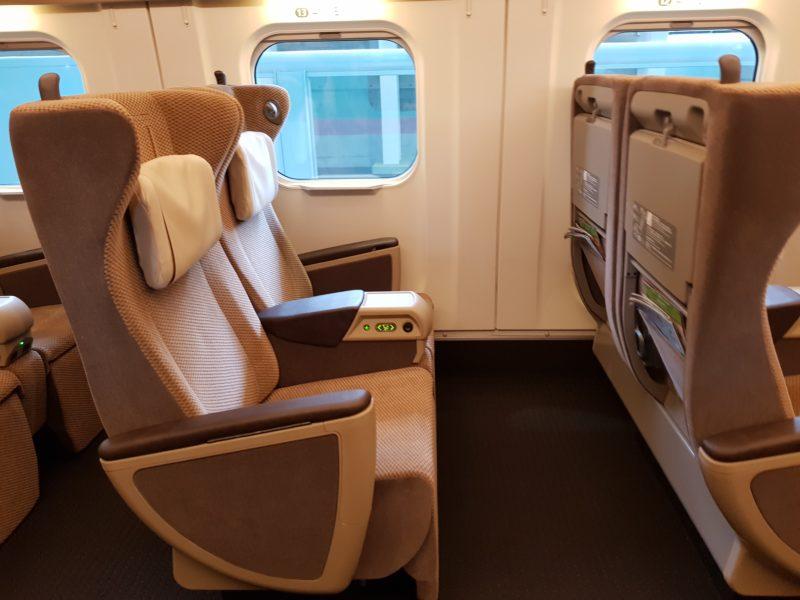 Review shinkansen high speed train japan, hayabusa seat