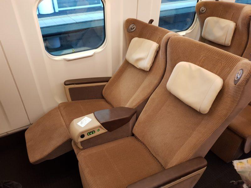 Review shinkansen high speed train japan, seat