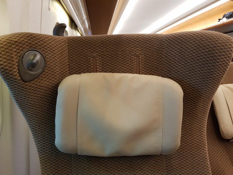 Review shinkansen high speed train japan, adjustable headrest