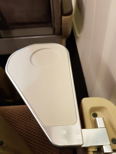 Review shinkansen high speed train japan, armrest table