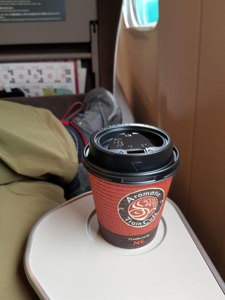 Review shinkansen high speed train japan, coffee