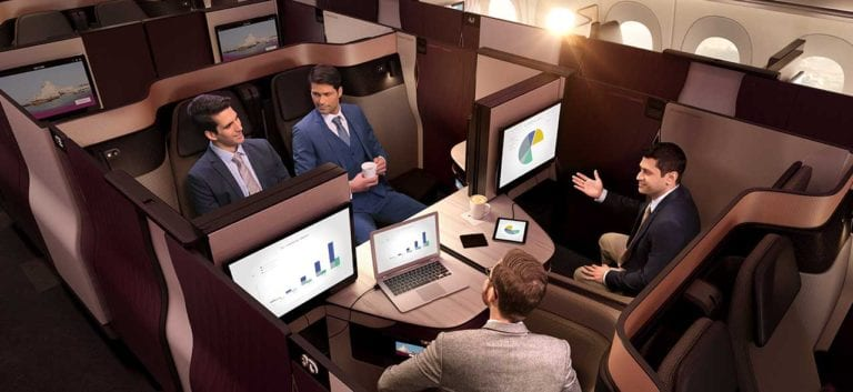 qatar airways qsuite routes