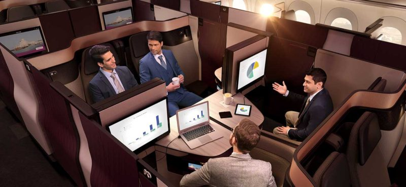 qatar airways qsuite routes