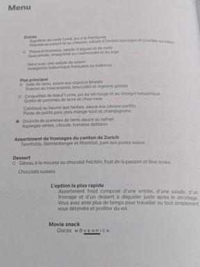 Swiss Business class review