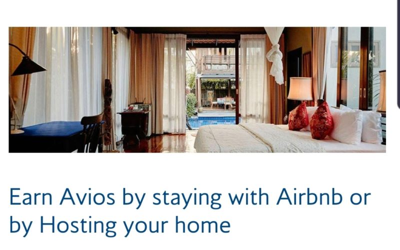 Earn avios with every Airbnb stays + 500 Avios welcome bonus