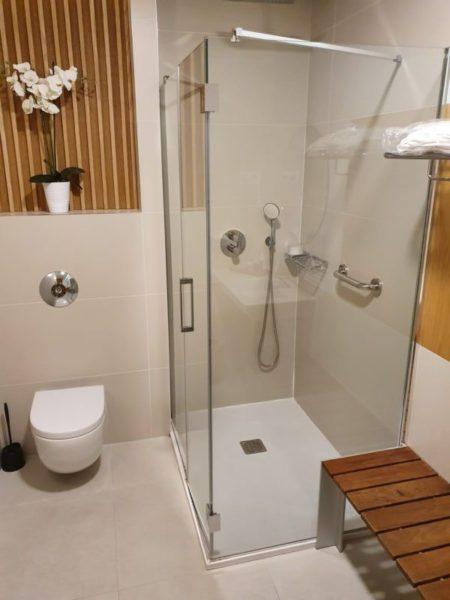 Iberia Velázquez Lounge Madrid shower