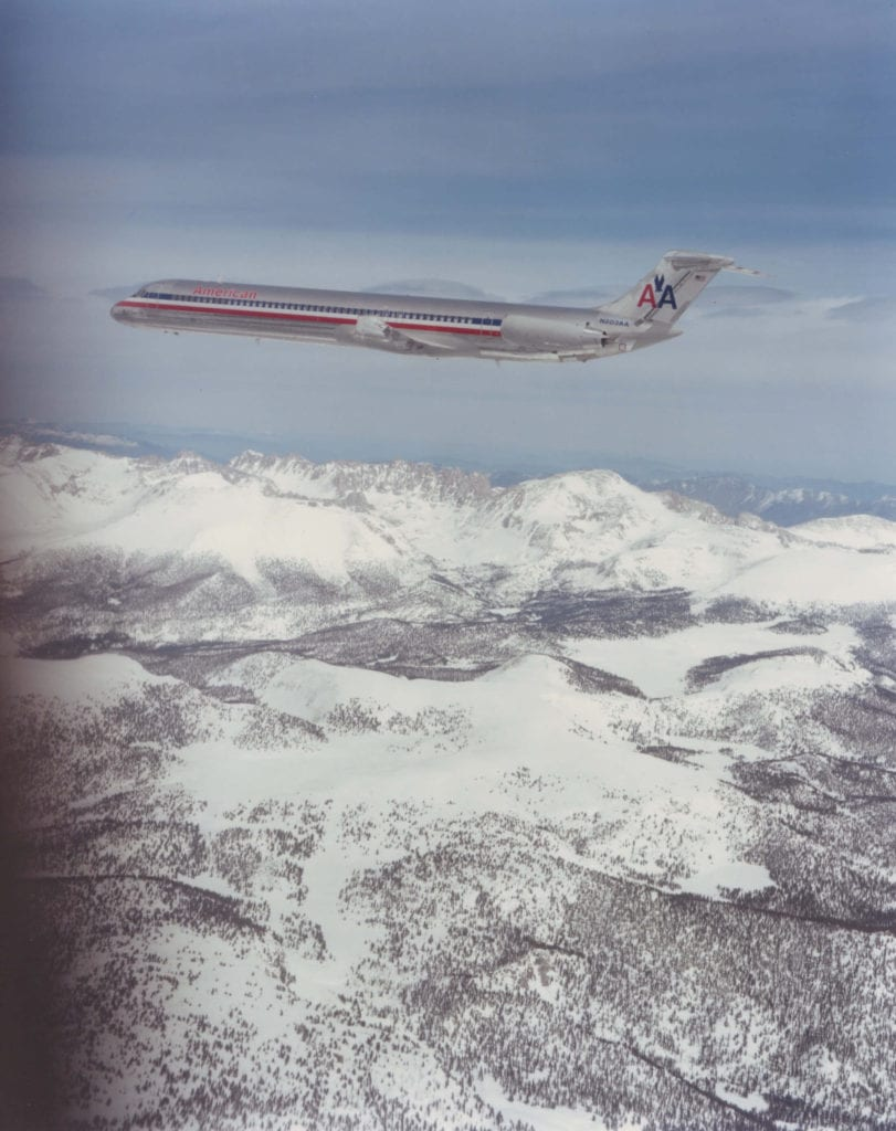 First MD80 delivery, picture by American Airlines