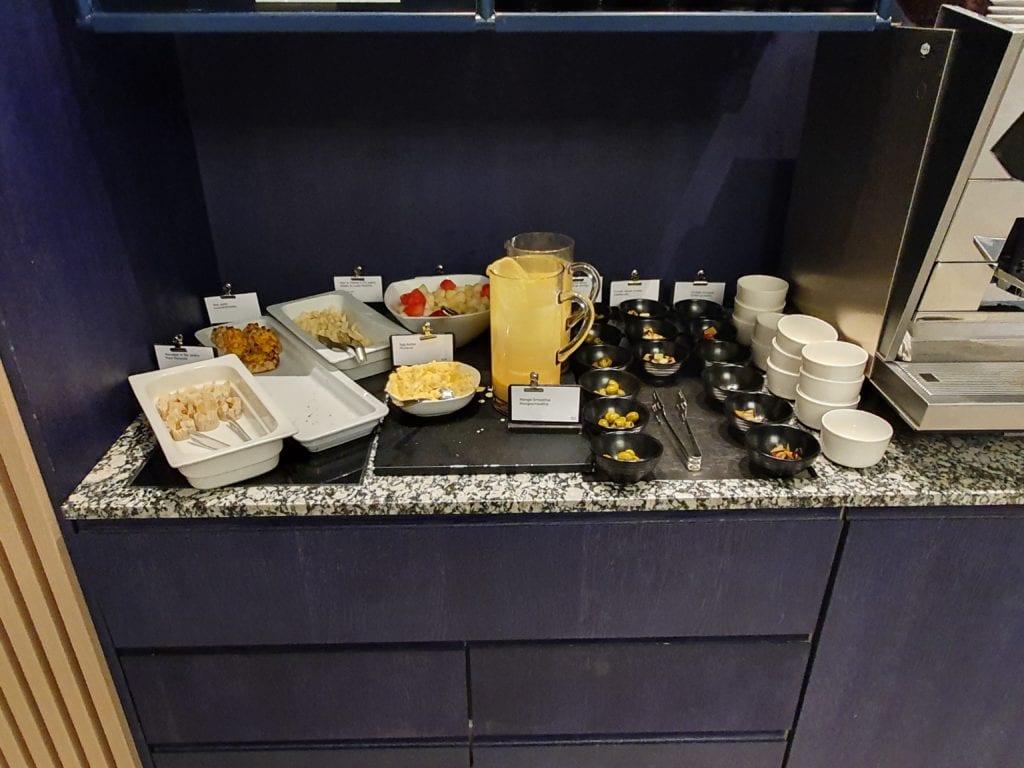Finnair Business Lounge Helsinki small buffet