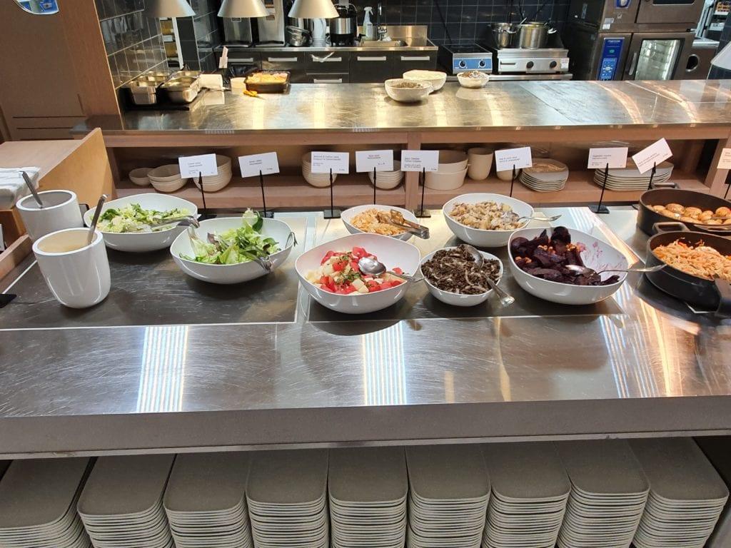 Finnair Business Lounge Helsinki buffet