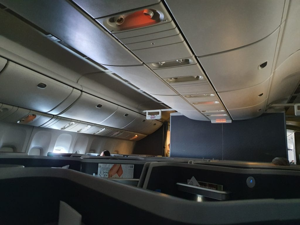 Flight review American Airlines Business class cabin