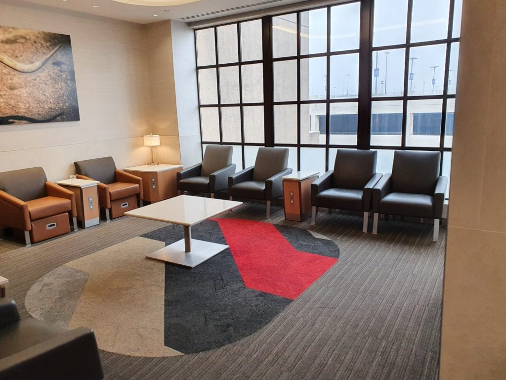 American Admirals Club Dallas seating room