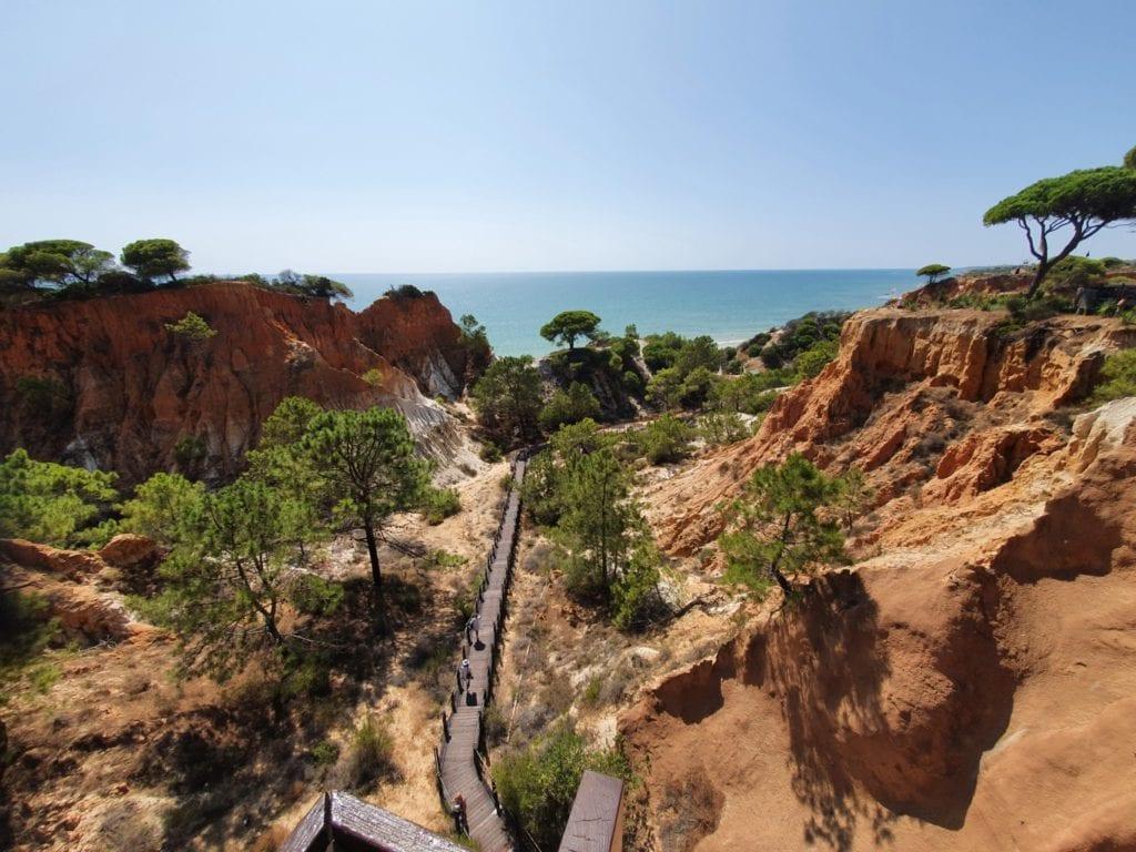Pine Cliffs Resort beach walk