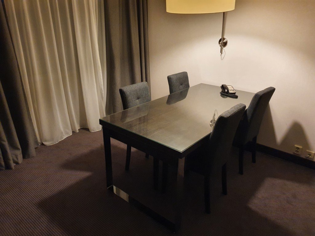 Hilton Luxembourg review living room