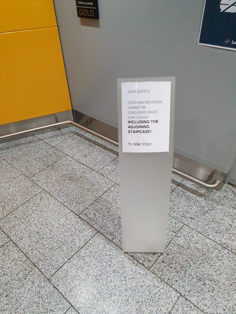 Lufthansa Senator Lounge Frankfurt food