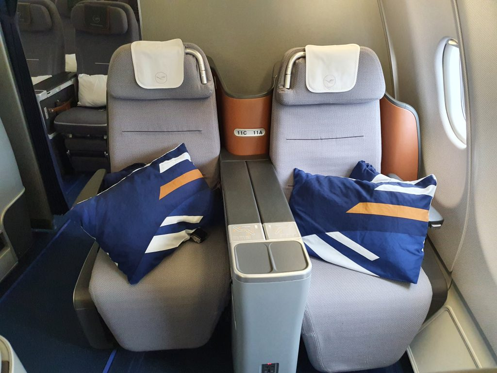 review Lufthansa Business class seat